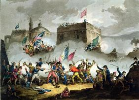Defence of the breach at St. Jean d'Acre, May 8th 1799, from 'The Martial Achievements of Great Brit