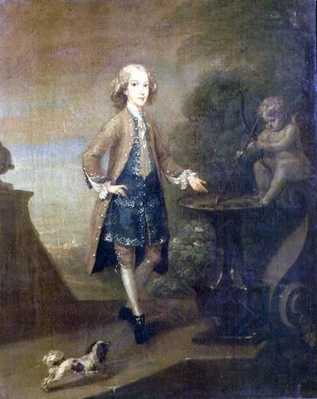Horace Walpole, aged 10 - William Hogarth en reproduction imprimée ...