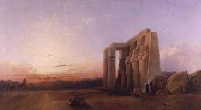 The Ramesseum at Thebes, Sunset