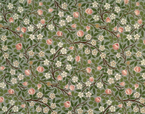 Small Pink And White Flower Wallpaper De William Morris En