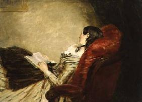 Sketch of the Artist's Wife Asleep in a Chair