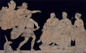 Achilles Restrained by Minerva from Rushing Upon Agamemnon