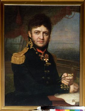 Portrait of the naval officer and discoverer Yuri F. Lisyansky (1773-1837)