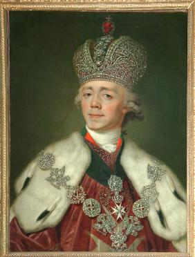 Portrait of the Emperor Paul I of Russia (1754-1801)