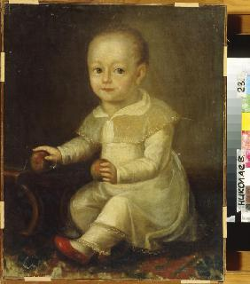 Portrait of a child with apples