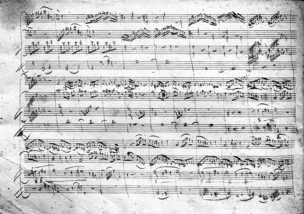 Trio in G major for violin, harpsichord and violoncello (K 496) 1786 (2nd page)