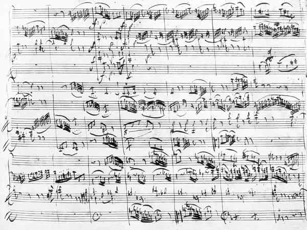 Trio in G major for violin, harpsichord and violoncello (K 496) 1786 (11th page)