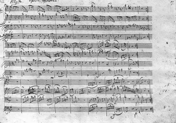 Trio in G major for violin, harpsichord and violoncello (K 496) 1786 (13th page)