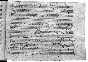 Trio in G major for violin, harpsichord and violoncello (K 496) 1786 (19th page)