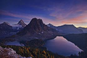 Twilight at Mount Assiniboine