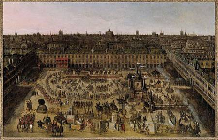 French School - The Place Royale and the Carrousel in 1612